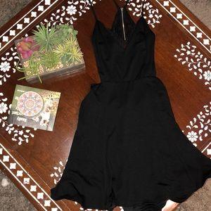 Lush black lace dress with lace detail